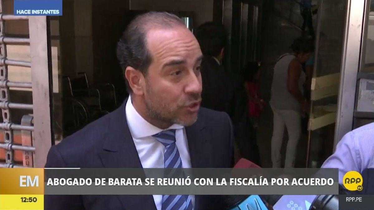 El abogado de Barata declaró para la prensa peruana luego de su reunión con el fiscal Vela.