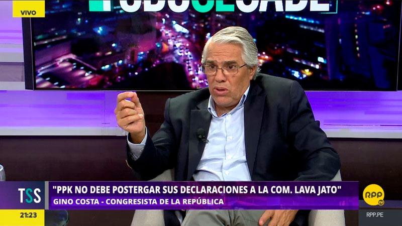 Costa también se mostró en contra de las mociones de vacancia debido a que no están bien fundamentadas.