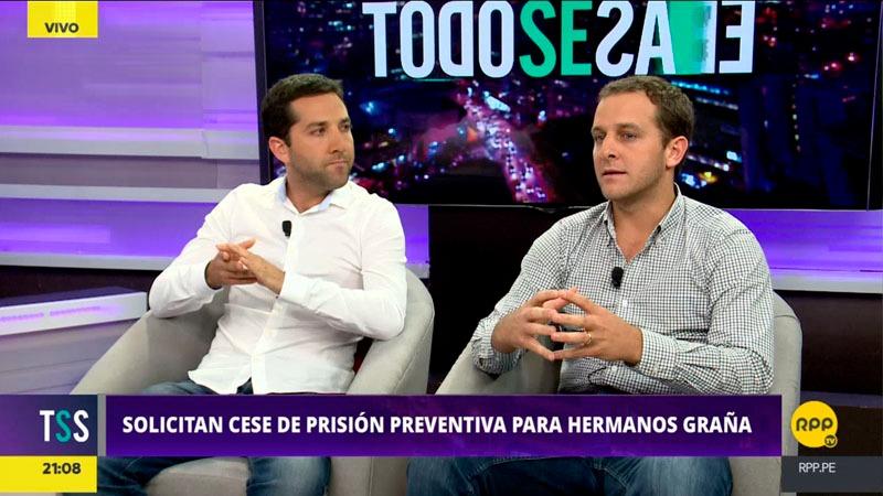 Daniel y Sergio Graña dijeron que su padre se encuentra en malas condiciones carcelarias y que debería seguir su proceso como los otros representantes de las consorciadas, en libertad.
