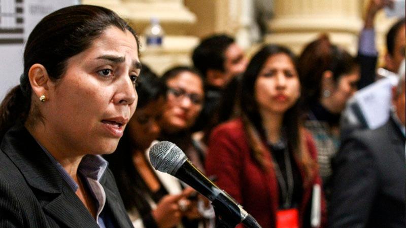 La congresista expresó su preocupación de que la Corte IDH se haya pronunciado sobre un procedimiento que no ha concluido.