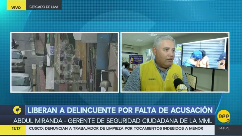 Desde la Municipalidad de Lima, también cuestionaron la liberación del ratero.