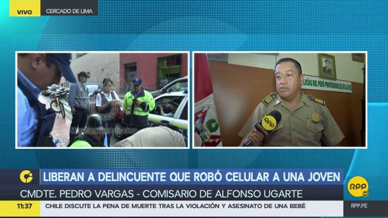 El comandante PNP Pedro Vargas habló en exclusiva con RPP Noticias.