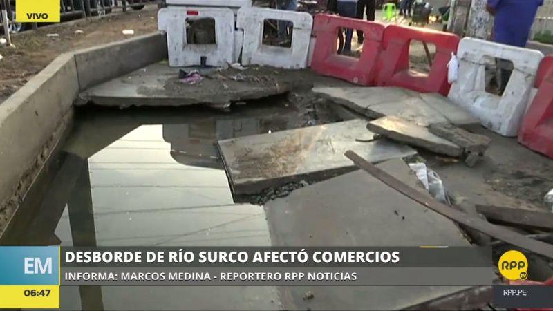 Las aguas inundaron un centro comercial y afectaron las obras de la línea 2 del Metro de Lima.