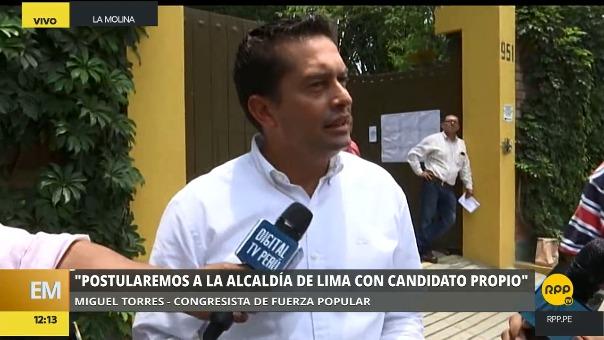 Miguel Torres también dijo que Fuerza Popular evaluará alianzas electorales en algunas provincias y distritos.