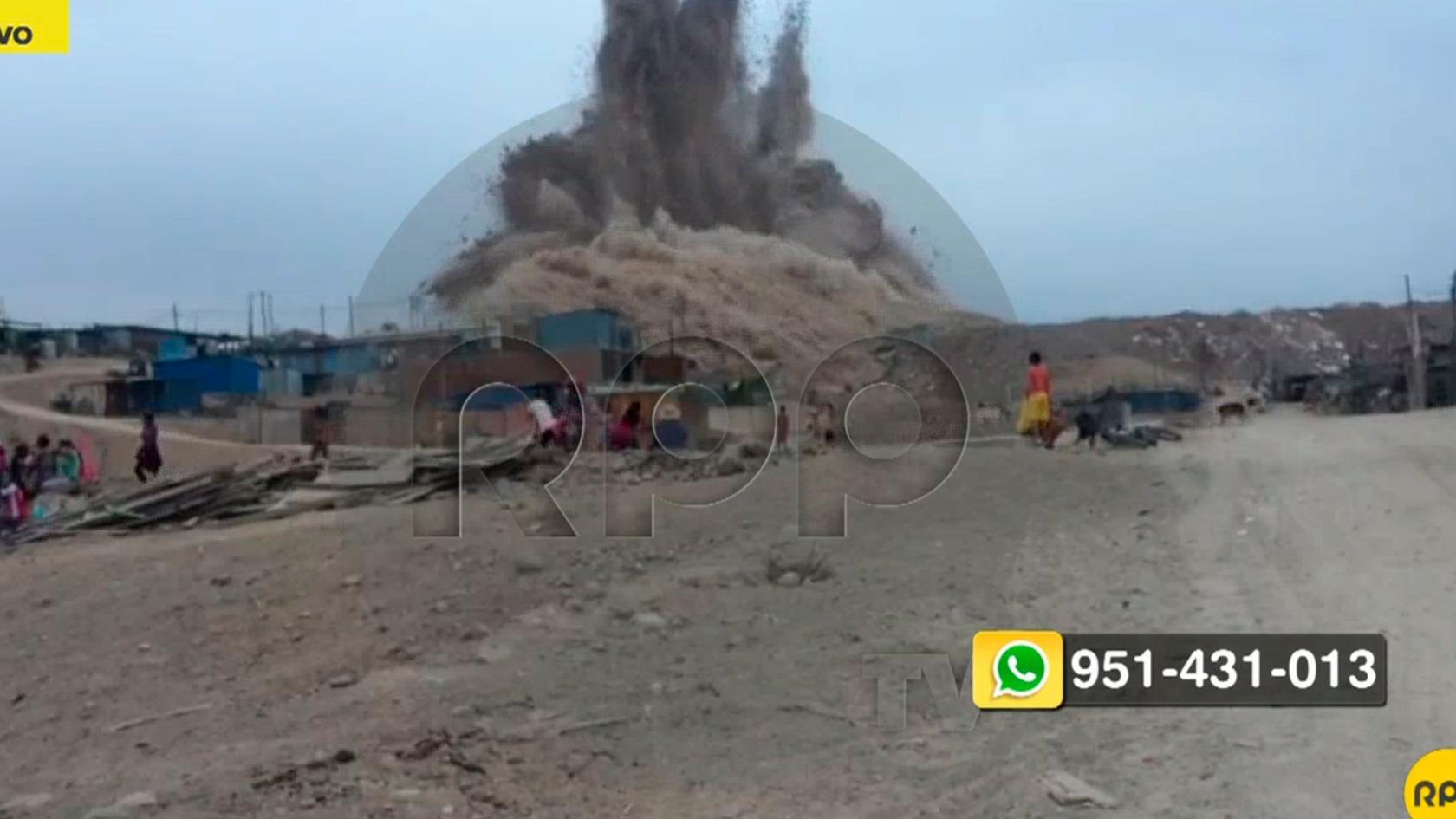 Explosiones en Cieneguilla.