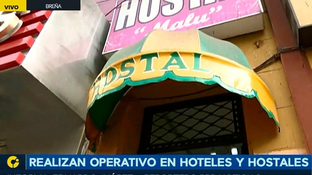 El operativo se realizo en hostales de la avenida Venezuela.