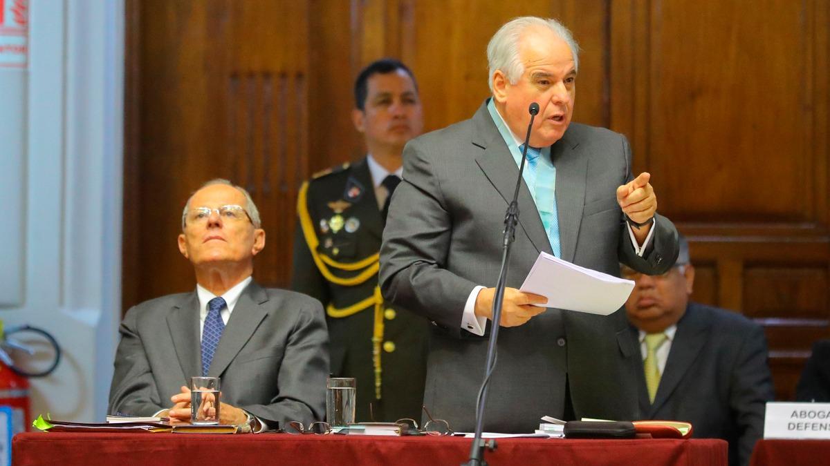 Alberto Borea defendió a PPK en el Congreso durante el primer proceso de vacancia presidencial en su contra.