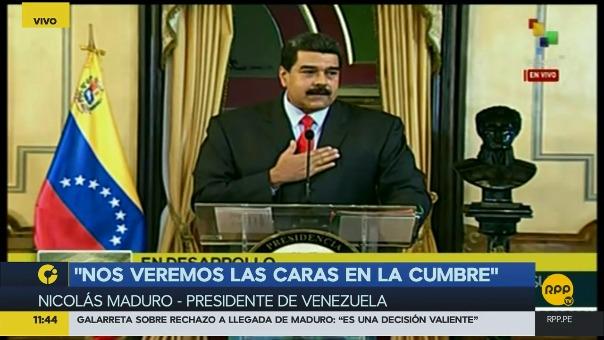 El pronunciamiento de Maduro: