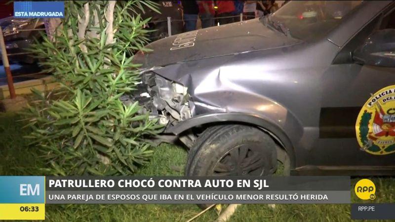 Dos personas resultaron heridas en este accidente de tránsito.