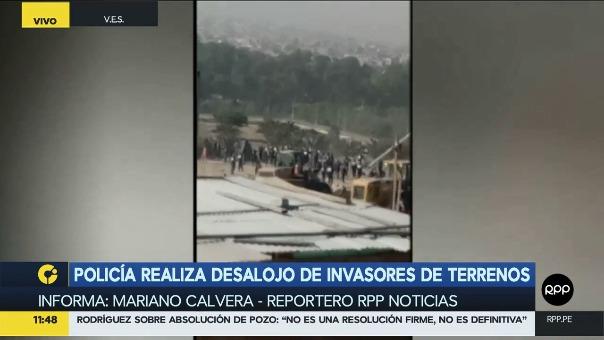 Los invasores aseguran que tres personas resultaron heridas.