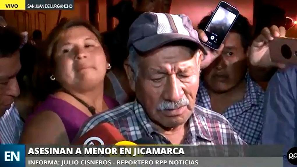 Pedro Huamanciza Mayta, abuelo de la menor asesinada, contó cómo encontraron el cuerpo de su nieta.
