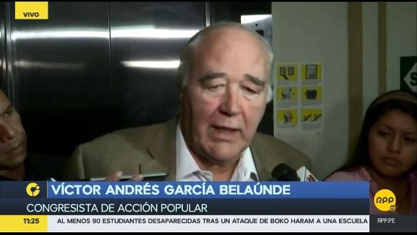 El congresista García Belaúnde (Acción Popular) criticó al fiscal Castro por no haber entregado preguntas sobre PPK
