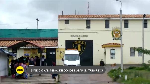 Inspeccionaron penal Ayacucho I, de donde fugaron tres internos.