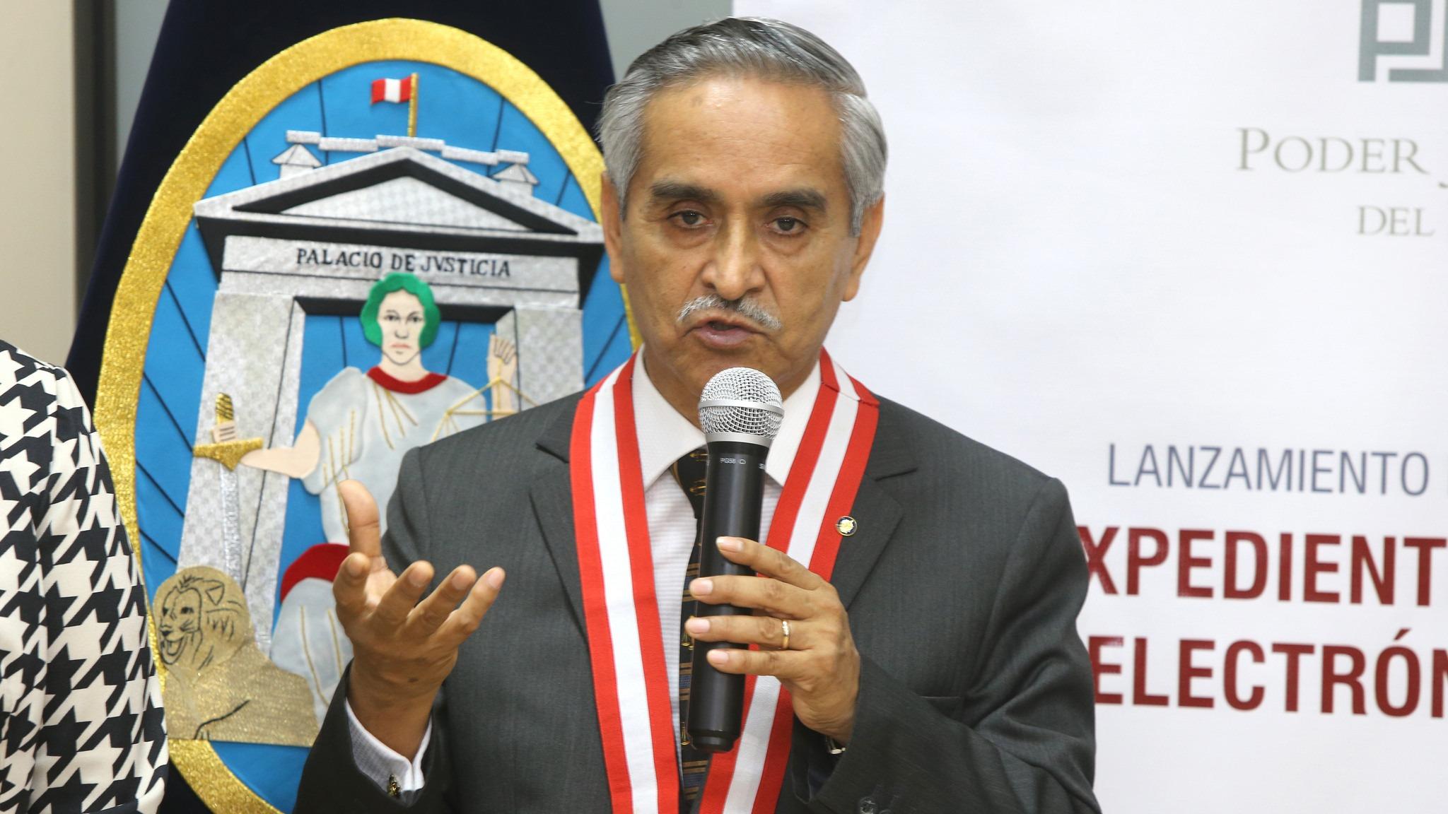El presidente del Poder Judicial contó que no solo él ha recibido amenazas de muerte.