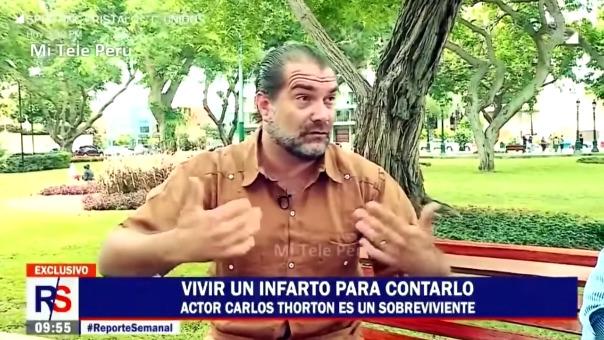 Carlos Thorton cuenta como sufrió un infarto hace 6 años.