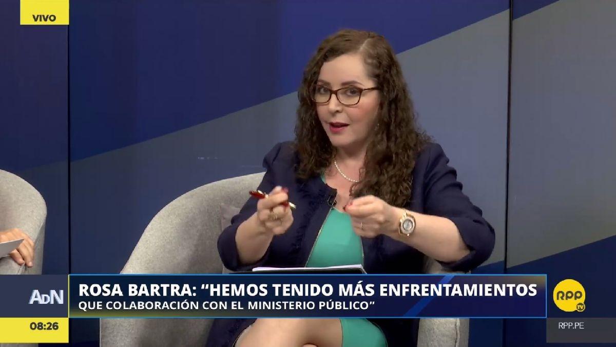 Rosa Bartra habló con RPP Noticias sobre las declaraciones de Barata.