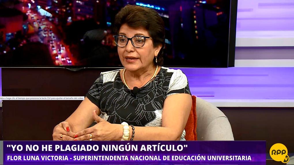 Flore Luna Victoria habló en el programa 'Todo se Sabe' de RPP.
