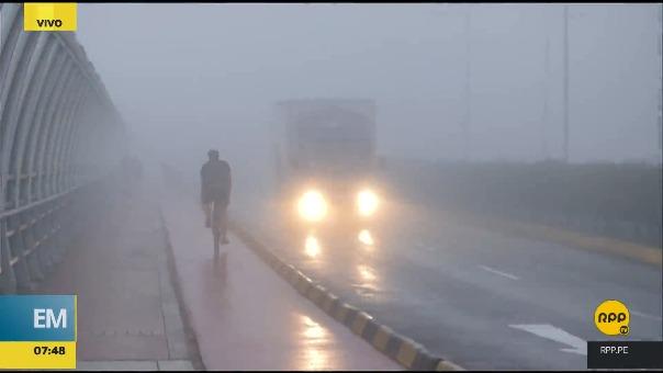 La neblina se presenció en distritos como Miraflores.