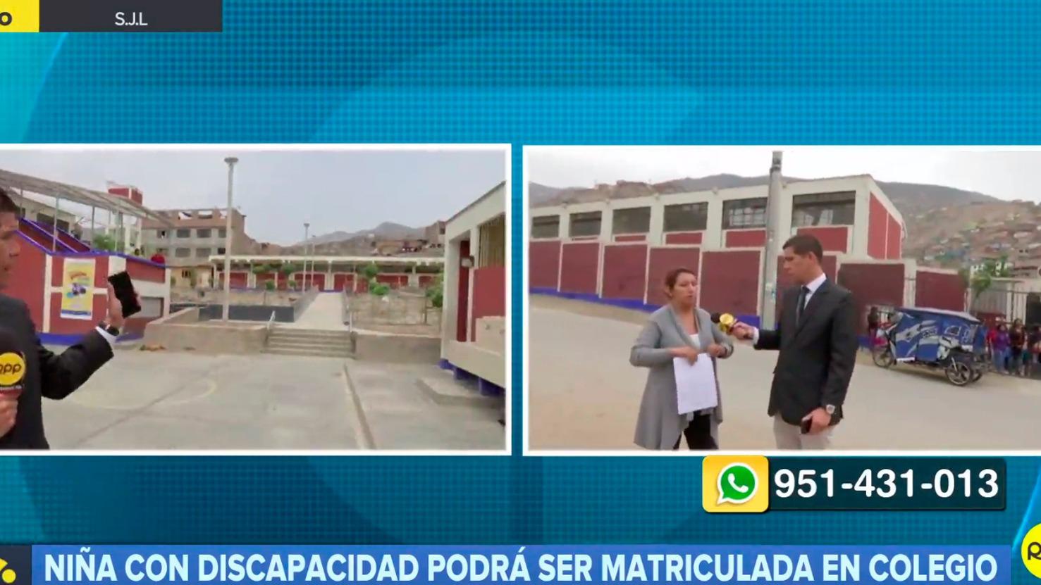 La menor de 11 años podrá estudiar en este colegio cercano a su casa.