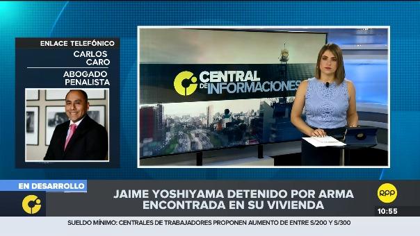 Carlos Caro dijo que el hallazgo de un arma sin licencia constituiría flagrancia del presunto delito de tenencia ilegal de armas