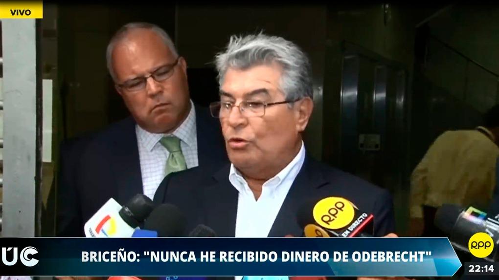 Ricardo Briceño dijo estar dispuesto asistir a la Fiscalía todas las veces que sea requerido.