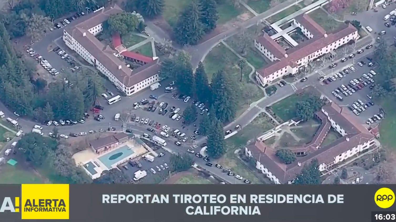 Reportan tiroteo en residencia de California