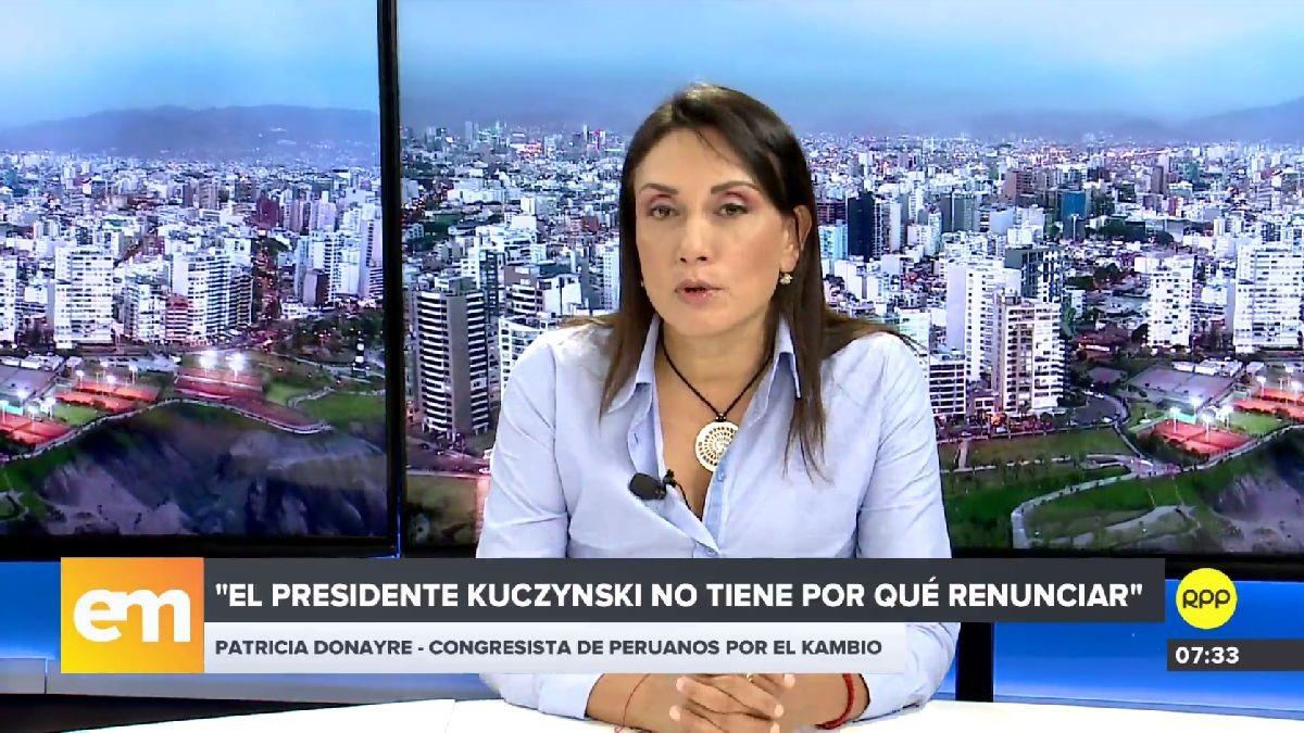Patricia Donayre declaró esta mañana en RPP Noticias.