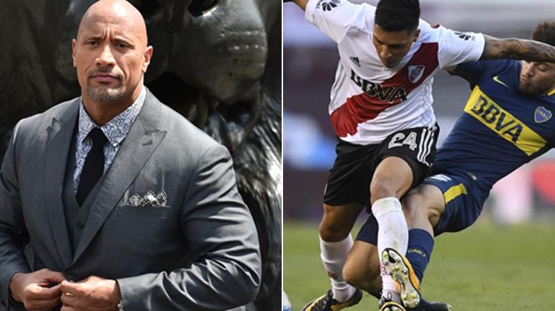 El actor estadounidense envío un mensaje para sus seguidores amantes de los clubes argentinos más importantes.