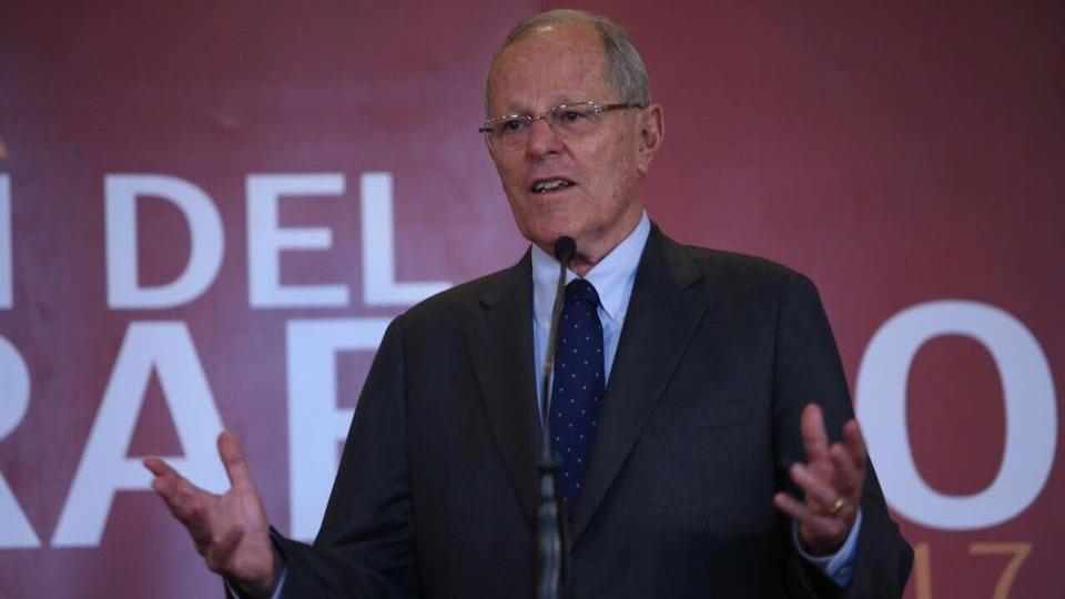 Pedro Pablo Kuczynski durante clausura del foro 'Exportaciones Perú 2017'.