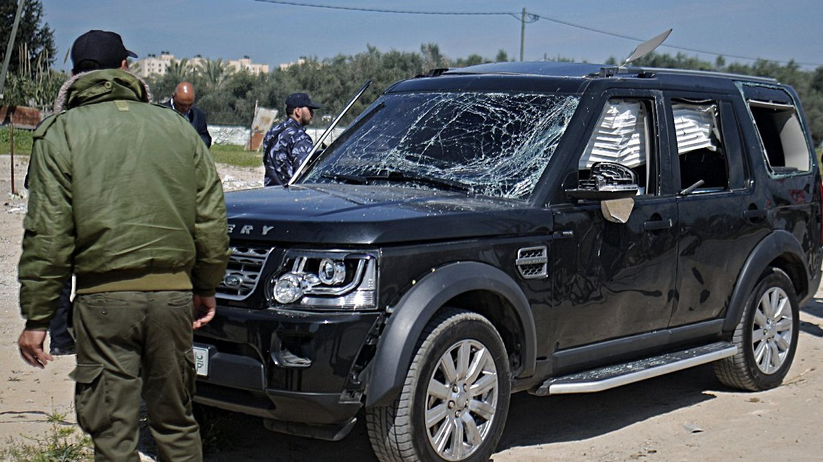 Así fue el ataque contra el primer ministro de Palestina.