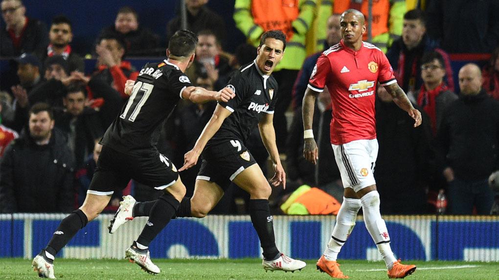 El Sevilla eliminó al Manchester United (1-2) con doblete de Ben Yedder.