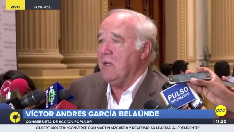 """Para García Belaúnde, salvo excepciones, el Gabinete es """"muy mediocre en general""""."""