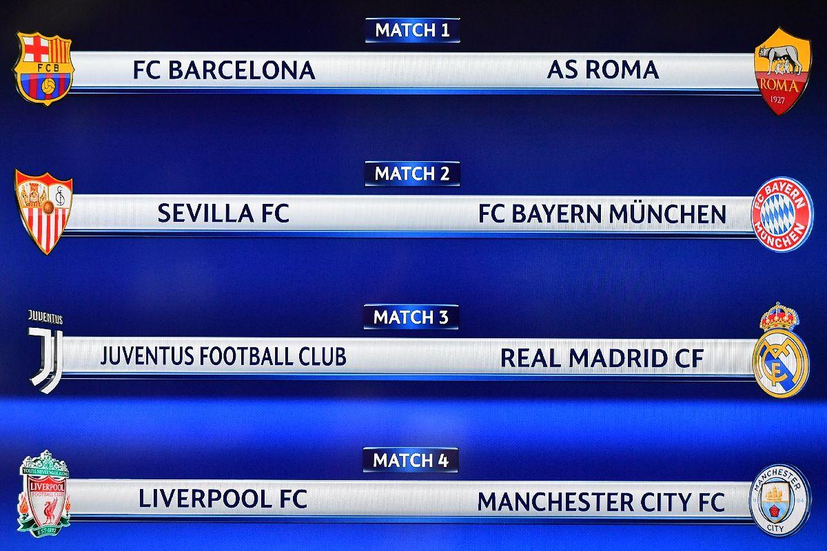 Real Madrid y Juventus reeditarán en cuartos el duelo que fue la final del torneo del año pasado, que fue ganada por los españoles.