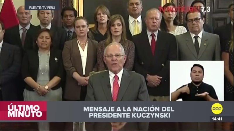 Video | El mensaje a la Nación con el que PPK renunció a su cargo | RPP  Noticias