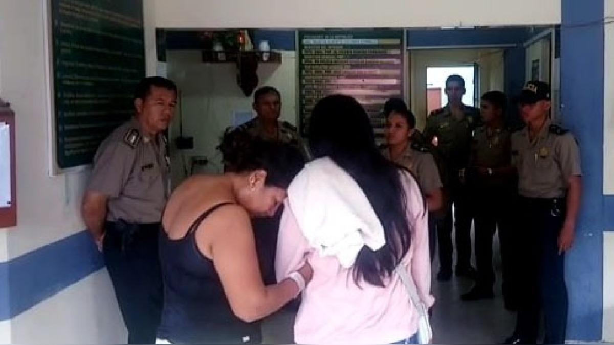 Mujer agredida por su pareja resultó con lesiones en el rostro.