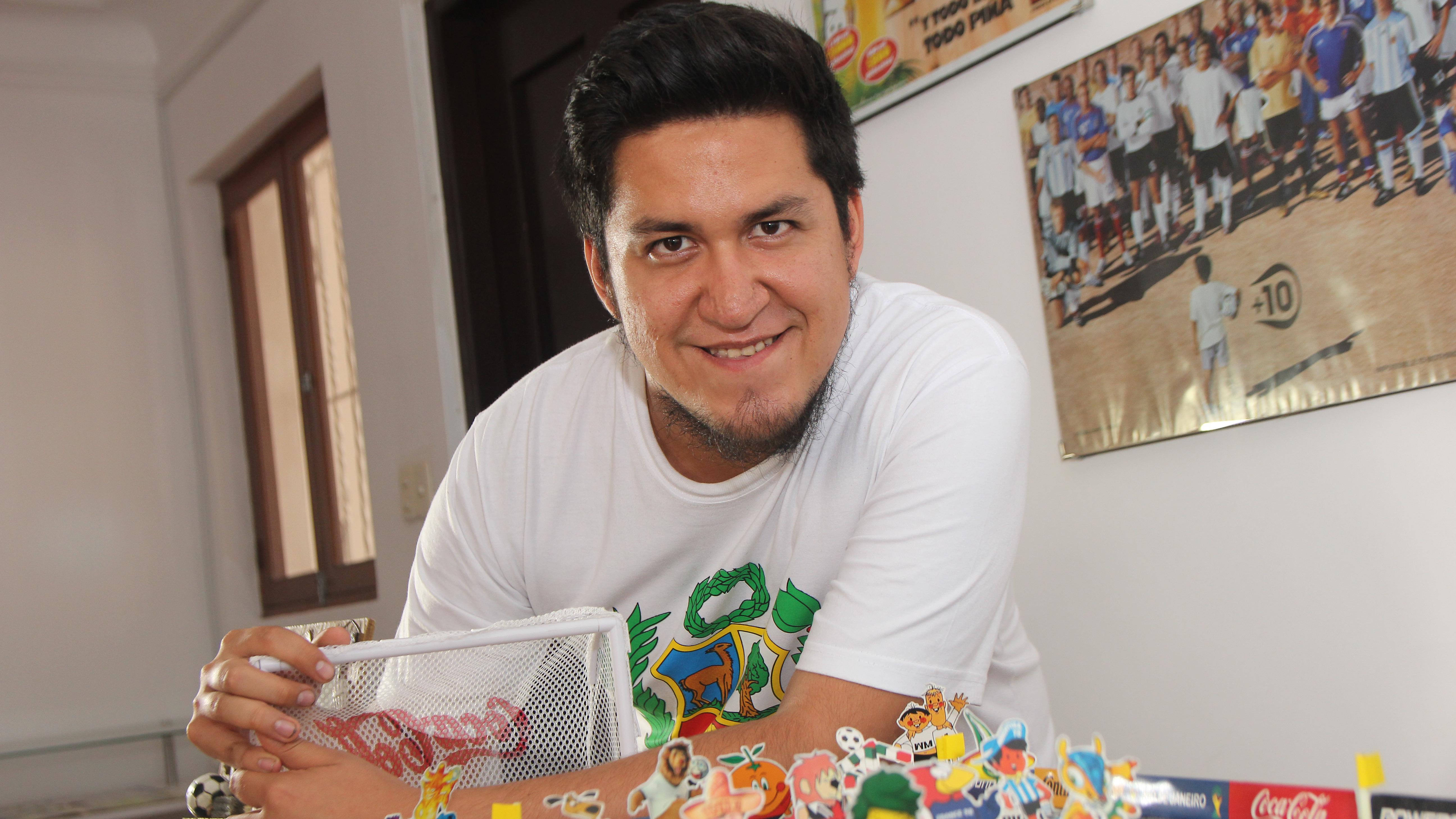 Jack Hurtado presenta el Museo Coleccionables de Fútbol.