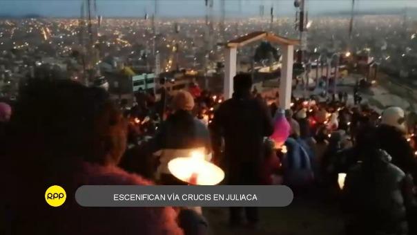 Vía Crucis en Juliaca.