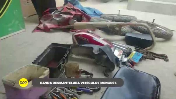 Clan familiar dedicado al robo de vehículos menores para desmantelarlos y venderlos ilegalmente fue desarticulada en Piura.