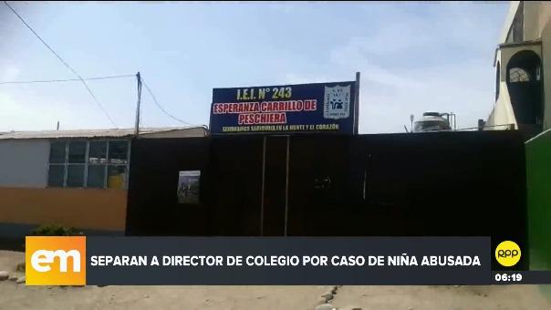 El director del colegio fue separado mientras se investiga el abuso a la menor.