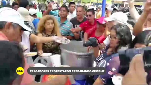 Población chimbotana y dirigentes sociales protestan contra exploración minera