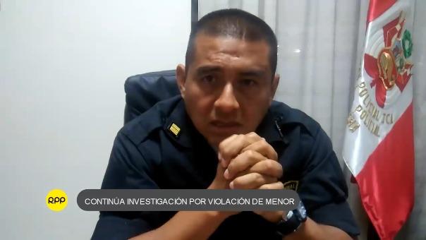 El jefe policial de Chincha, comandante Marco Antonio Ascue, informó detalles sobre la investigación.