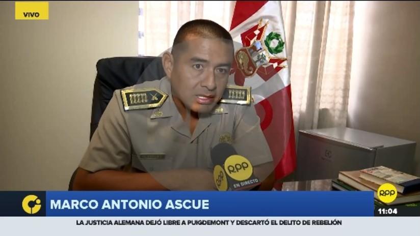 El comisario de Chincha, Marco Antonio Ascue, conversó con RPP Noticias.