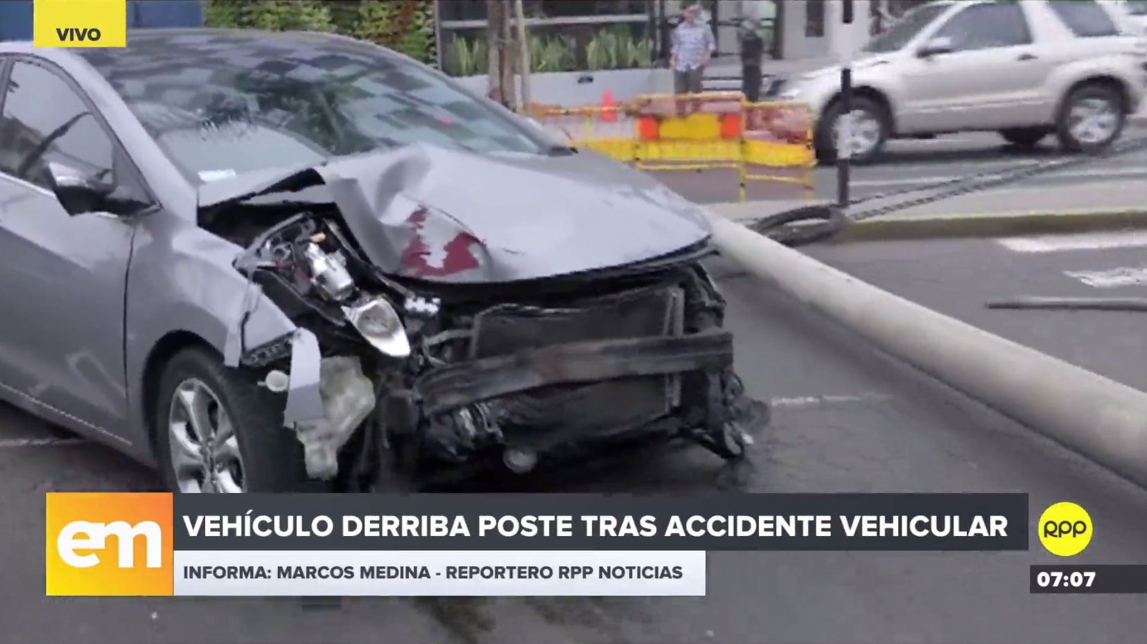 Accidente en la avenida El Ejército, Miraflores.