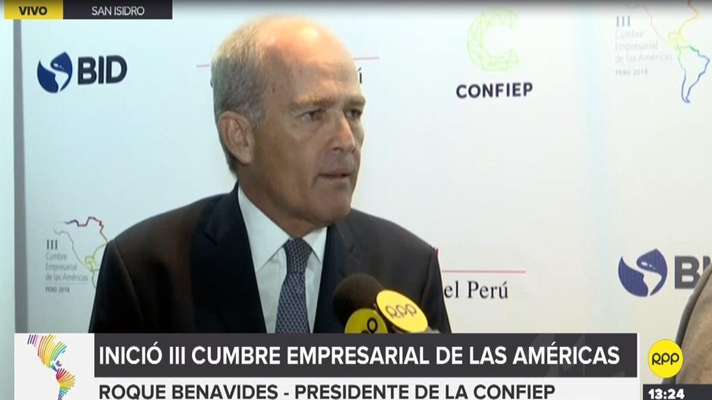 El presidente de la Confiep, Roque Benavides, señaló además hoy que el empoderamiento de las mujeres en la economía peruana podría agregar hasta tres puntos porcentuales al crecimiento del PBI.