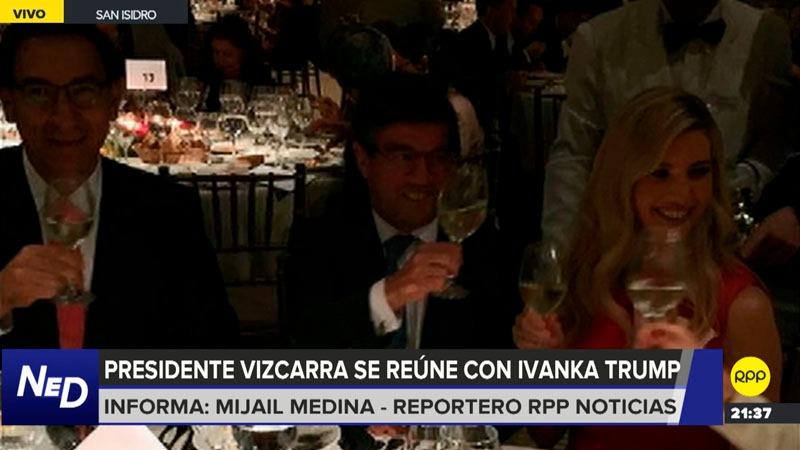 La asesora del presidente Trump realizó un recorrido previo a la cena.