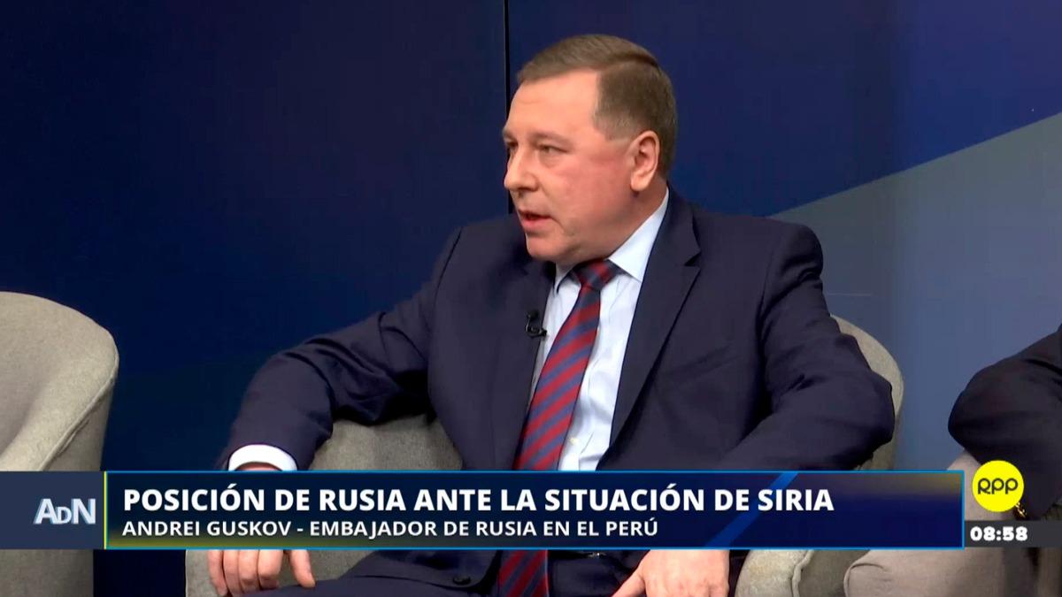 El embajador ruso conversó con el panel de Ampliación de Noticias.