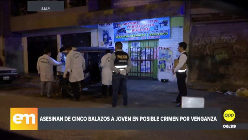 Los atacantes interceptaron al joven y le dispararon hasta en cinco oportunidades.