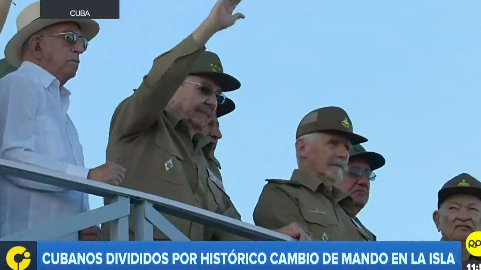 Cubanos divididos por histórico cambio de mando en la isla