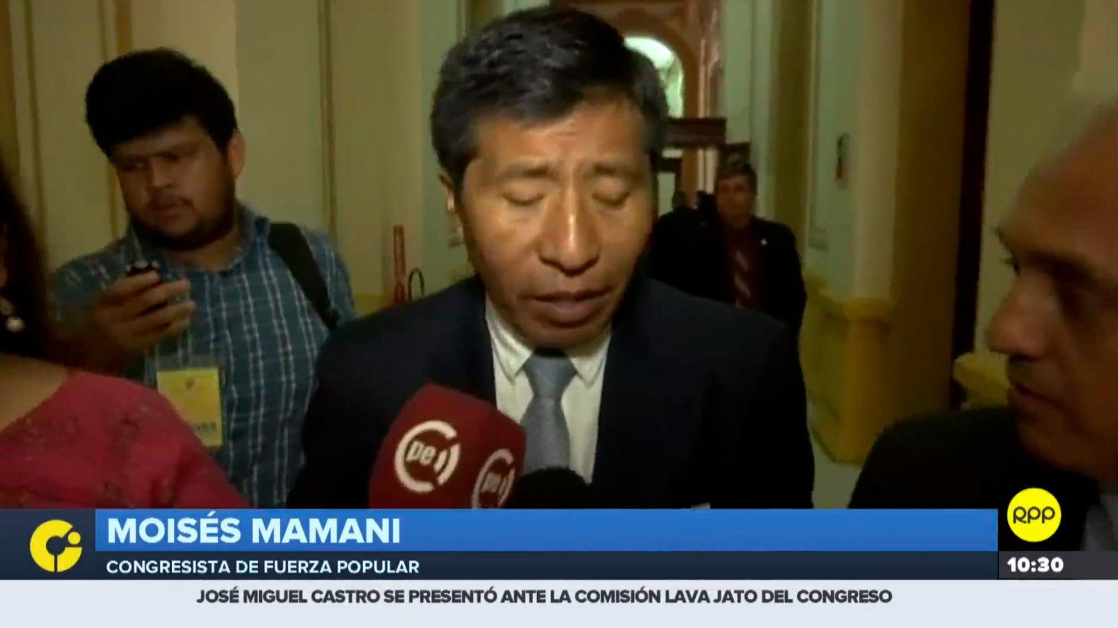 Moisés Mamani reiteró que entregó los videos originales a la Fiscalía