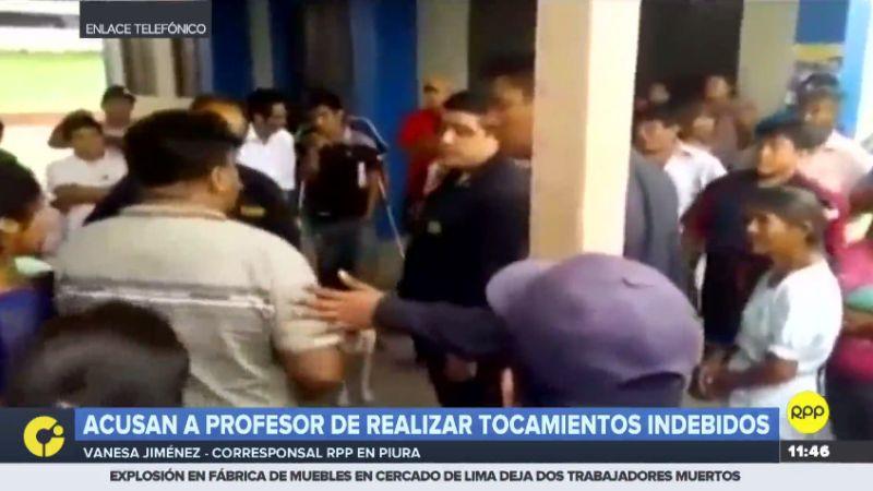 Los padres de las menores casi linchan al profesor denunciado.